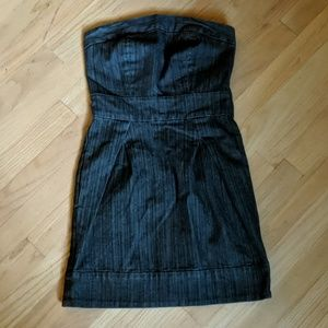 Guess denim strapless dress